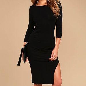 NWT Lulu's USA Made 3/4 Sleeve Side Slit Dress